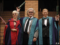 Annie Lennox, Billy Connolly and Tilda Swinton