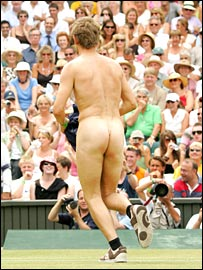 SW19's latest streaker bares all on Centre Court