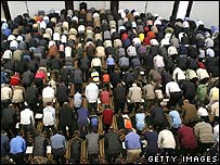 US Muslims in a mosque