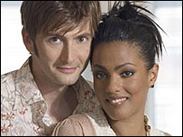 Doctor Who, David Tennant, with new companion Freema Agyeman