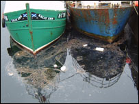 Oil in harbour. Picture courtesy of Stornoway Port Authority