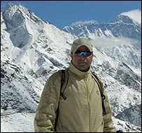 Navin Singh Khadka on his epic trek