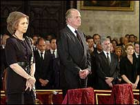 Spain's Queen Sofia and King Juan Carlos