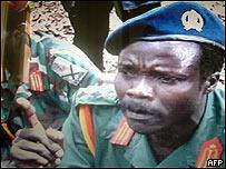 Joseph Kony, líder del Ejército de Resistencia del Señor.