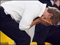 Jurgen Klinsmann was left in despair by Italy's late goals