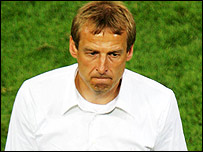 Devastated Germany coach Jurgen Klinsmann