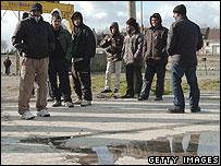 Immigrants at Calais