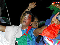 Italian fan stunned at his team's victory over Germany