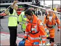 Paramedics arrive at Edgware Road