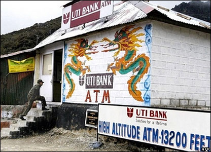 India bank at Nathu La pass