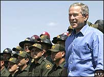 Bush address border patrol agents
