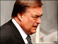 John Prescott leaves his London home on 5 July