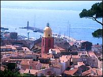 La playa de St Tropez