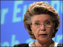 European Commissioner for Information Society and Media Viviane Reding