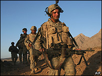 US soldiers in Helmand province, Afghanistan