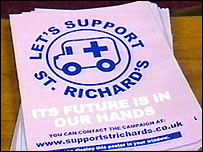 St Richard's Hospital campaign leaflet