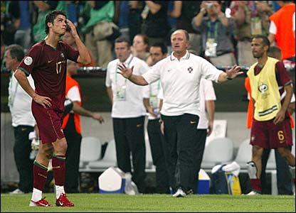 Portugal react after the final whistle