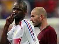 Patrick Vieira and Zinedine Zidane