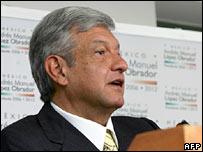 Left-wing candidate Andres Manuel Lopez Obrador