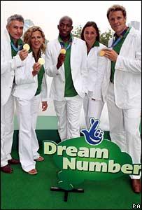 Jonathan Edwards, Sally Gunnell, Marlon Devonish, Sarah Bailey, and James Cracknell launch Dream Number