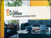 Microsoft Office software box, Microsoft