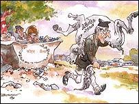 Batsyayana cartoon depicting Nepalese Prime Minister GP Koirala