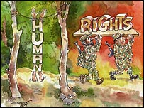 Batsyayana cartoon depicting the army
