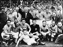 Italy's victorious 1938 World Cup side