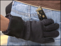 Kevlar stab proof metal detecting glove