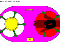 Bury Council's plan for the black pudding floral display