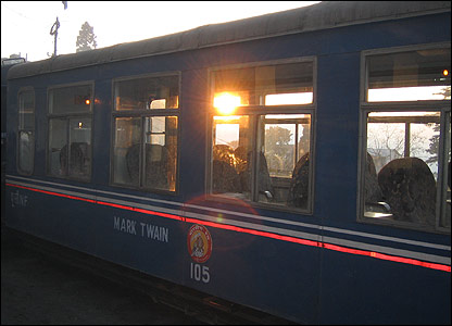 Darjeeling train carriage named after mark Twain