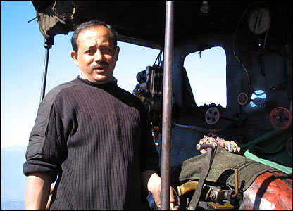 Darjeeling train driver
