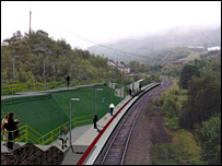 Artist's impression of part of new Ebbw Vale to Newport line