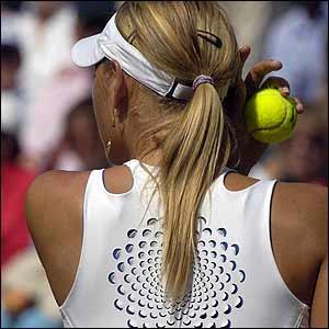 Sharapova prepares to serve