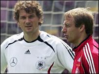 Jens Lehmann and Jurgen Klinsmann
