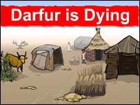 """Pantalla del juego """"Darfur est� muriendo"""""""