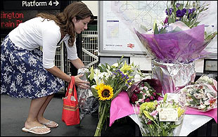 Flowers are laid at King's Cross