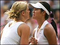 Kim Clijsters (left) and Na Li