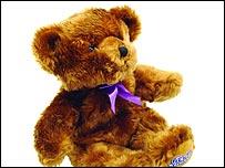 Microwaveable/freezable teddy bear