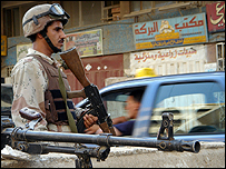 Iraqi soldier in Baghdad