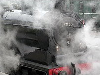 Steam engine. Picture courtesy of Undiscovered Scotland