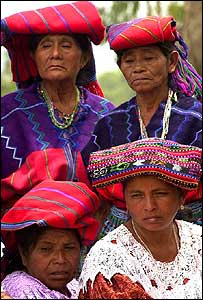 Relatives of victims of the Guatemalan civil war attend a funeral, Guatemala  (2001)