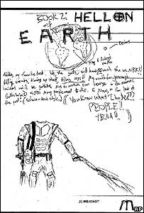 Drawing by Dylan Klebold in Harris' yearbook