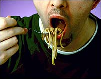 Image of a man eating