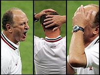 Expresiones de Luiz Felipe Scolari.