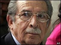 Efra�n R�os Montt, ex gobernante militar de Guatemala