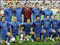 El equipo de fútbol de Italia