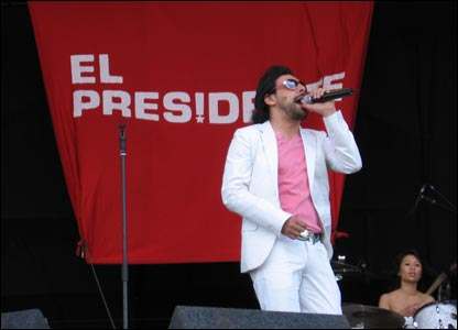Scottish band El Presidente were among the first bands on stage