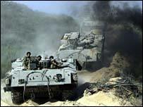 Israeli tanks leaving northern Gaza