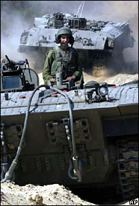 Israeli tanks leaving northern Gaza